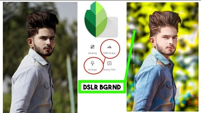 snapseed dslr background editing
